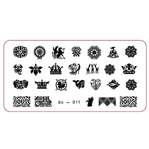 Vovotrade Nail Art Stamp image DIY Stamping Plaques Modèle Manucure(A)
