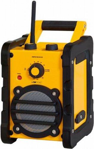 Clatronic BR 816 Boombox stereo radio portatile da cantiere (impermeabile, antiurto, tuner FM)