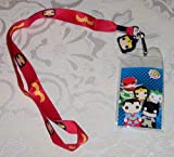 FUNKO WONDER WOMAN Pop Heroes LANYARD Charm Keychain ID Holder Licensed