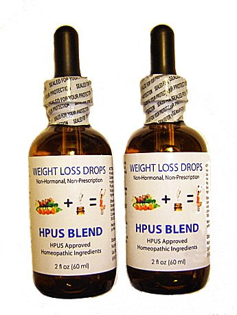 2 x NHL HPUS Blend Essential Formula Quick Weight Loss Diet Drops 120ml 4 fl oz - Get Slim Fast! Lose a Pound Per Day on the 500-Calorie Dr Simeons and Cura Romana Diets!