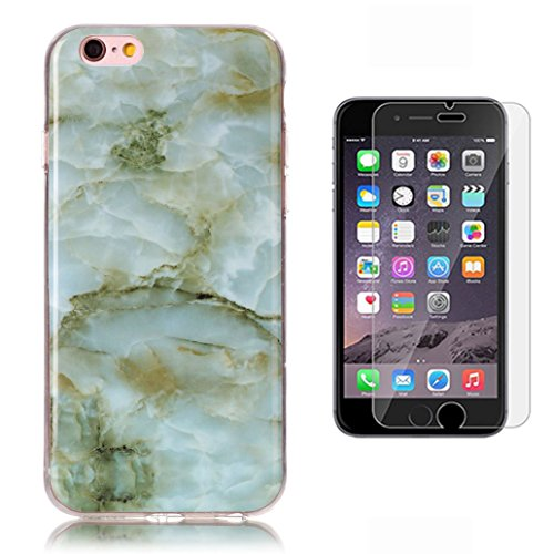 iphone-6-6s-case-with-tempered-glass-screen-protector-yooweir-marble-natural-stone-textured-pattern-