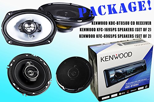 Package! Kenwood Kdc-Bt858U Cd-Receiver + Kfc-1695Ps Speakers + Kfc-6965Ps Speakers
