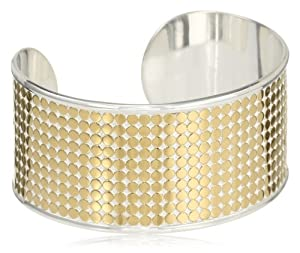 "Anna Beck Designs ""Bali"" 18k Gold-Plated Medium Multi-Disk Cuff Bracelet"