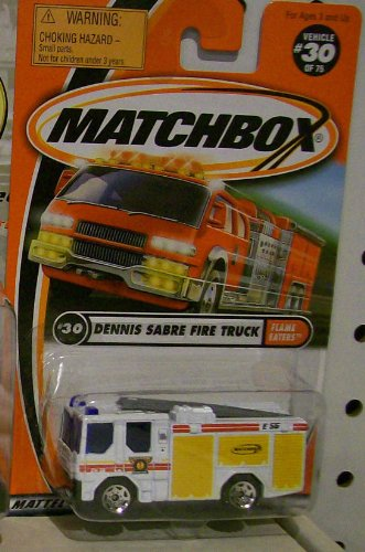 2000 MATCHBOX DENNIS SABRE FIRE ENGINE FIRE TRUCK #30 of 75