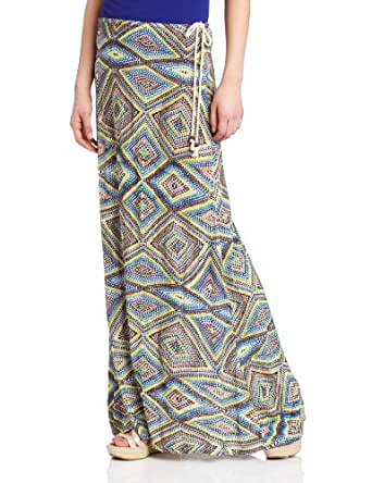 QSW Women's Maxi Skirt, Islet Watercolor, X-Small