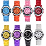 Outop Wholesale 8 Assorted Silicone Jelly Women's Watch