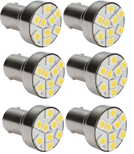 6 X Gold Stars 11568303-06 Led Replacement Bulb 1139 / 1141/ 1003 / 1156 Base 80 Lums 12V Or 24V Natural White