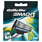Gillette Mach 3 Manual Razor Blades 8 pack