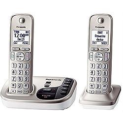 Panasonic KX-TGD222N dect_6.0 2-Handset Landline Telephone