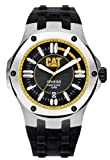 Cat Men's Quartz Watch with Black Dial Analogue Display and Black Rubber Strap A1.141.21.127