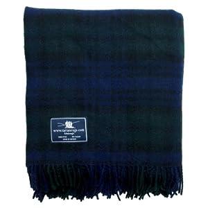 Black Watch Tartan Premium Wool Knee / Lap Rug from Tweedmill Textiles