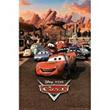 (24x36) Cars Movie (Group, Town) Poster Print