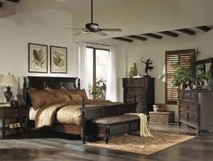 Ashley key town panel bedroom set in dark brown bedroom furniture sets for Ashley furniture key town bedroom set