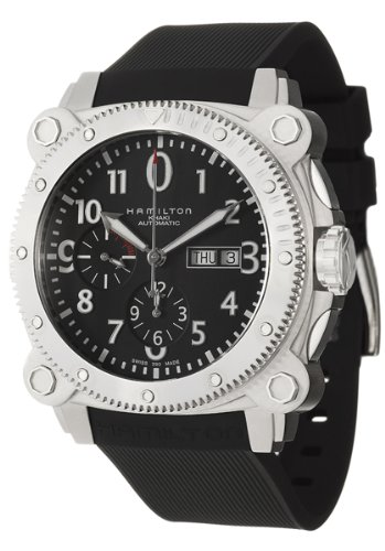 Hamilton Men's H78616333 Khaki Navy BelowZero Black Chronograph Dial Watch