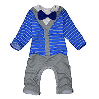 Big Elephant Baby Boys' One Piece Gentle Romper Outfit Clothes Bowtie R63