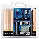 Set de lapices de dibujo Pro Art de 18 piezas.