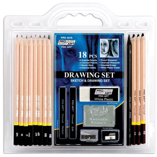 Pro Art 18-Piece Sketch/Draw Pencil Set (Gems Arts And Crafts compare prices)
