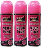 3 X 225 ML FLUORESCENT NEON PINK EXTRA BRIGHT MATT FINISH CREATIVE SPRAY PAINT good for interior and exterior NO CFCs