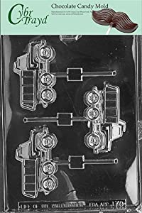 Cybrtrayd J070 Dump Truck Lolly Chocolate Candy Mold with Exclusive Cybrtrayd Copyrighted Chocolate Molding Instructions