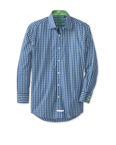 English Laundry Men's Plaid Dress Shirt