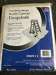 Paint Essentials 9-Feet x 12-Feet Canvas Drop Cloth HW912