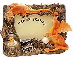 Dragon One Headed Picture Frame with Mini Snow Globe