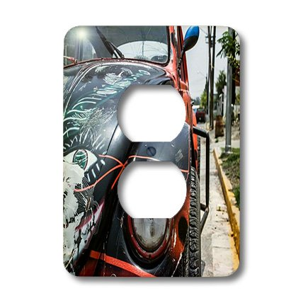 Lsp_171782_6 Florene All Things Mexican - Image Of Fancy Painted Old Vw In Mexico - Light Switch Covers - 2 Plug Outlet Cover