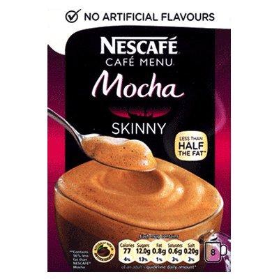 Nescafe Cafe Menu Instant Mocha Skinny Cappuccino 8 Sachets
