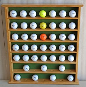 Golf Gifts & Gallery 49-Ball Display Cabinet, Oak Finish, No door, Wall Hanging,... by TopStage