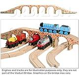 Orbrium® Toys 6 Arches Viaduct Bridge for Wooden Railway Track Fits Thomas Trains Brio set