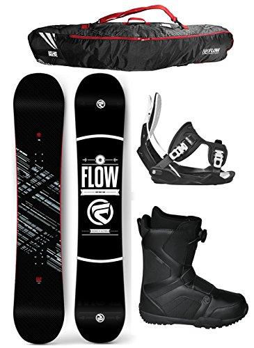 Flow 2017 Gap Men's Complete Snowboard Package Flow Bindings Flow BOA Boots BAG - Board Size 151 (Boot Size 10) (Flow Snowboard Packages Mens compare prices)