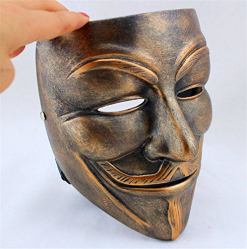 Gmasking Bronze Resin V for Vendetta Guy Fawkes Anonymous Mask+Gmask Keychain
