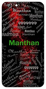 Manthan (Reflection Through Study) Name & Sign Printed All over customize & Personalized!! Protective back cover for your Smart Phone : Moto E-2 ( 2nd Gen )