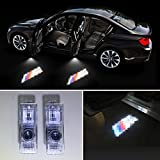 Gogolighting® No Drilling Changeable Logo Door Courtesy Ghost Shadow Lights for BMW 3 5 6 7 (BMW M)