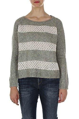 Liu Jo Jeans W65052 Ma50a Maglione Donna Bianco/grigio L