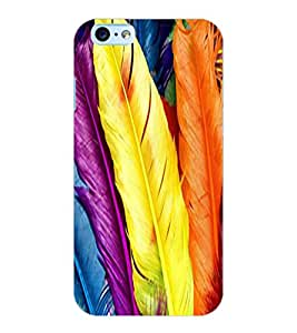 ColourCraft Lovely Feathers Design Back Case Cover for APPLE IPHONE 6S