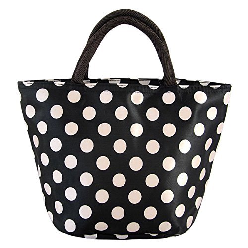 Sealike Classic Cute Polka Dot Waterproof Picnic Lunch Bag Tote Bag for Women Girls with Stylus - 1