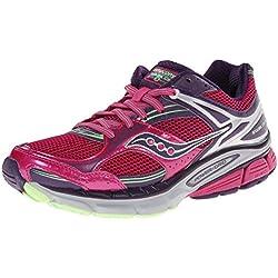 Saucony Women's Stabil CS3 Running Shoe,Berry/Green,5 W US