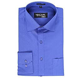 Magson Elite Men's Formal Shirt 1968096031_Blue_38