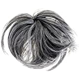 New Style Hair Extension Scrunchie Up Do Down Do Spiky Twister (Black Grey Mix) Synthetic