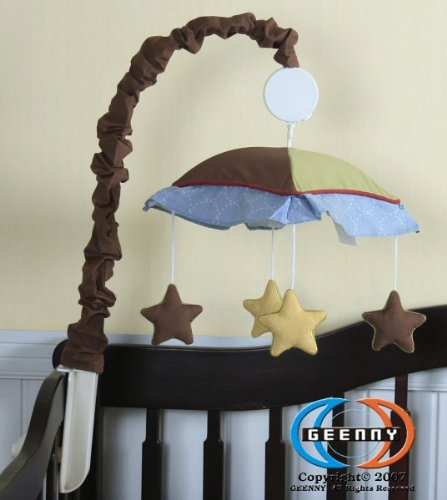 Geenny Musical Mobile For Boutique Airplane Aviator 13 Pcs Crib Bedding Set