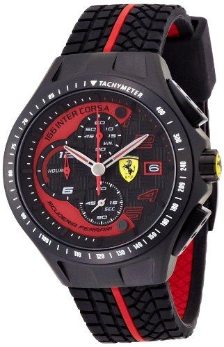 Scuderia Ferrari 0830077 - Reloj de cuarzo , correa de goma color negro
