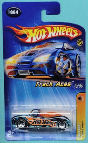 Mattel Hot Wheels 2005 1:64 Scale Track Aces Black & Orange Power Pipes Die Cast Car #064 - 1