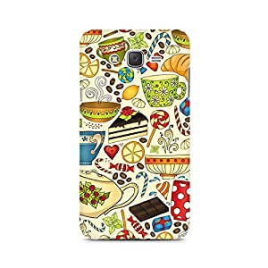 Motivatebox- Abstract Tea Party Premium Printed Case For Samsung J1 Ace -Matte Polycarbonate 3D Hard case Mobile Cell Phone Protective BACK CASE COVER. Hard Shockproof Scratch-