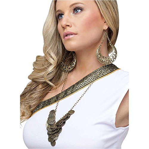 Goddess Necklace & Earrings Set - One Size