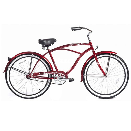Micargi Tahiti Beach Cruiser, Red, 26-Inch