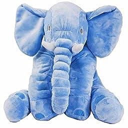Gaobei Baby Soft Cushion Stuffed Elephant Plush Pillows Cushion, Lumbar Nursing Pillow Dolls for Kids
