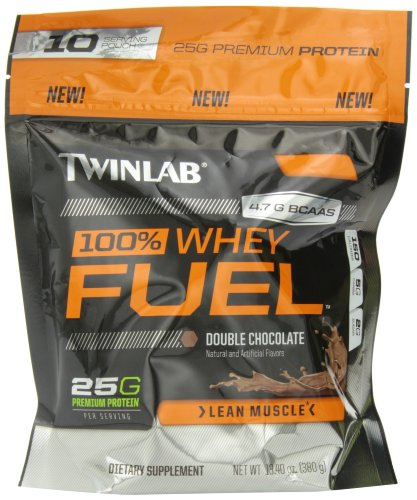 Twinlab 100% Whey Fuel Nutritional Shake, Double Chocolate, 13.4 Ounce (Whey Fuel Protein compare prices)