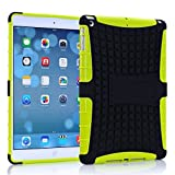 Vogue shop Ipad Air Case, Ipad Air Case Cover - Ipad 5 Shock-absorption / Impact Resistant Hybrid Dual Layer Armor Defender Protective Case Cover with Built-in Kickstand for Apple Ipad Air 5th Gen 2013 (Three Month Warranty) (Gift for Screen Protector Film and Clean Cloth) (ipad air yellow)