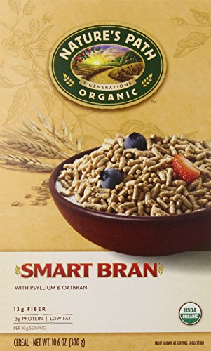 Nature's Path Organic Smart Bran, Psyllium & Oatbran Cereal, 10.6-Ounce Boxes (Pack of 6)